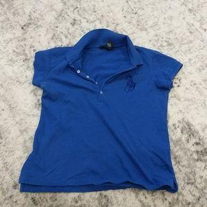 Ralph Lauren Blue beaded polo shirt